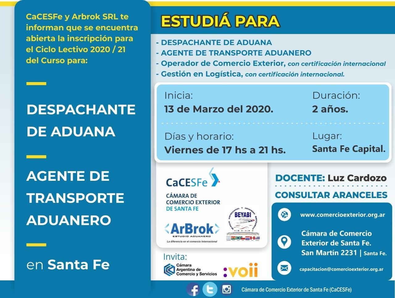 Despachante de Aduanas  / ATA 2020 / 2021